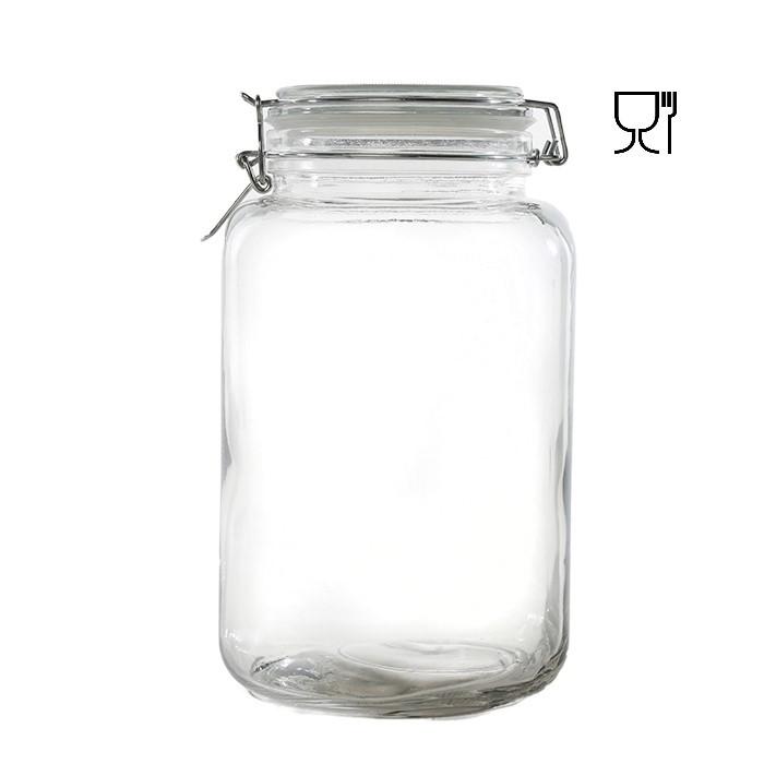 Barattolo in vetro con clip  v5.5l 15 x 15 h26 cm