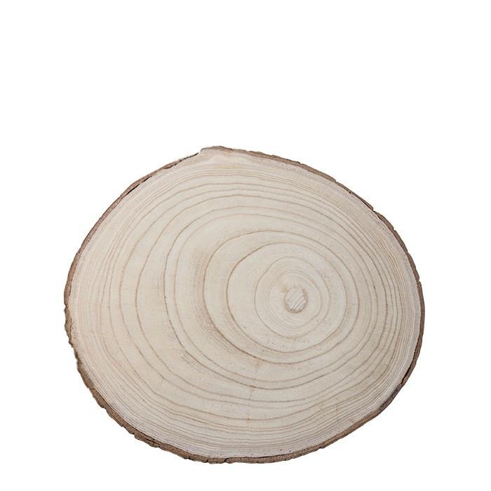 Disque en bois avec bord en ecorce naturelle d30 h2.5 cm