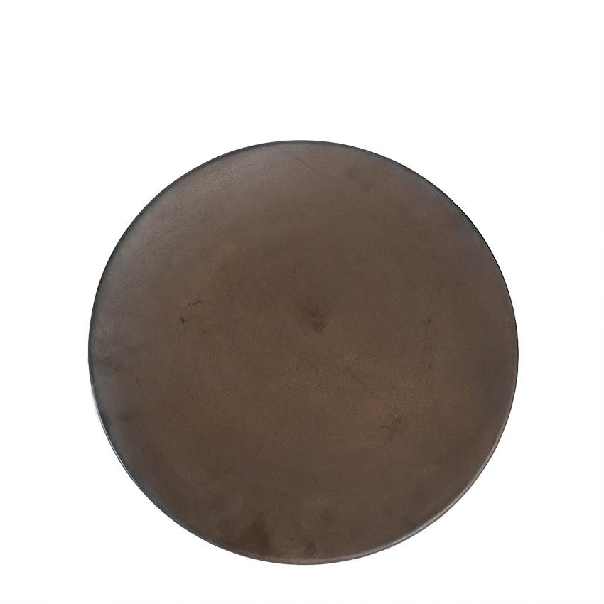Piatto terracotta pesante chocolate seconda scelta d36 cm