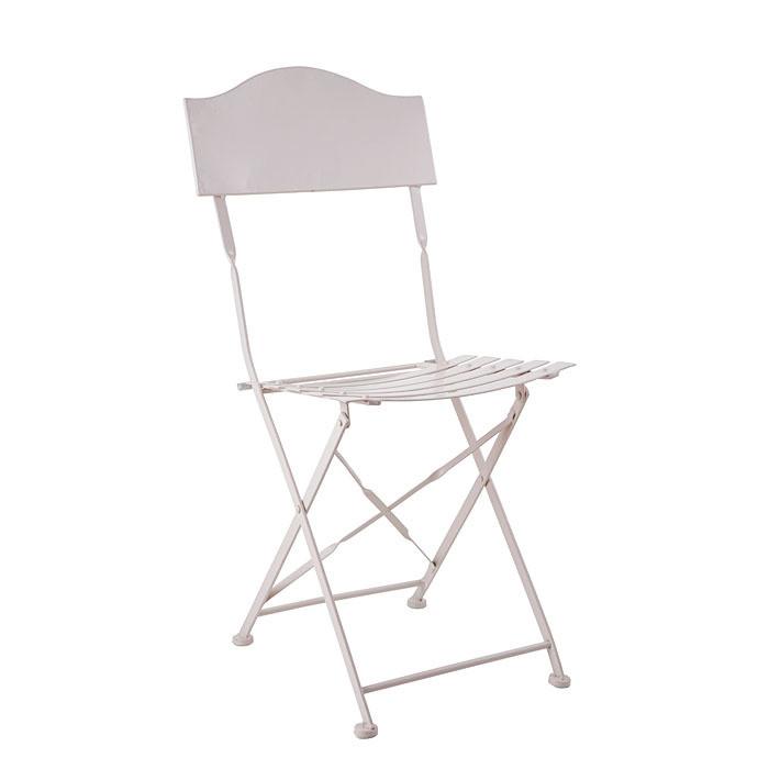 Sedia in ferro colore bianco jardin richiudibile 42 x 50 h80 cm