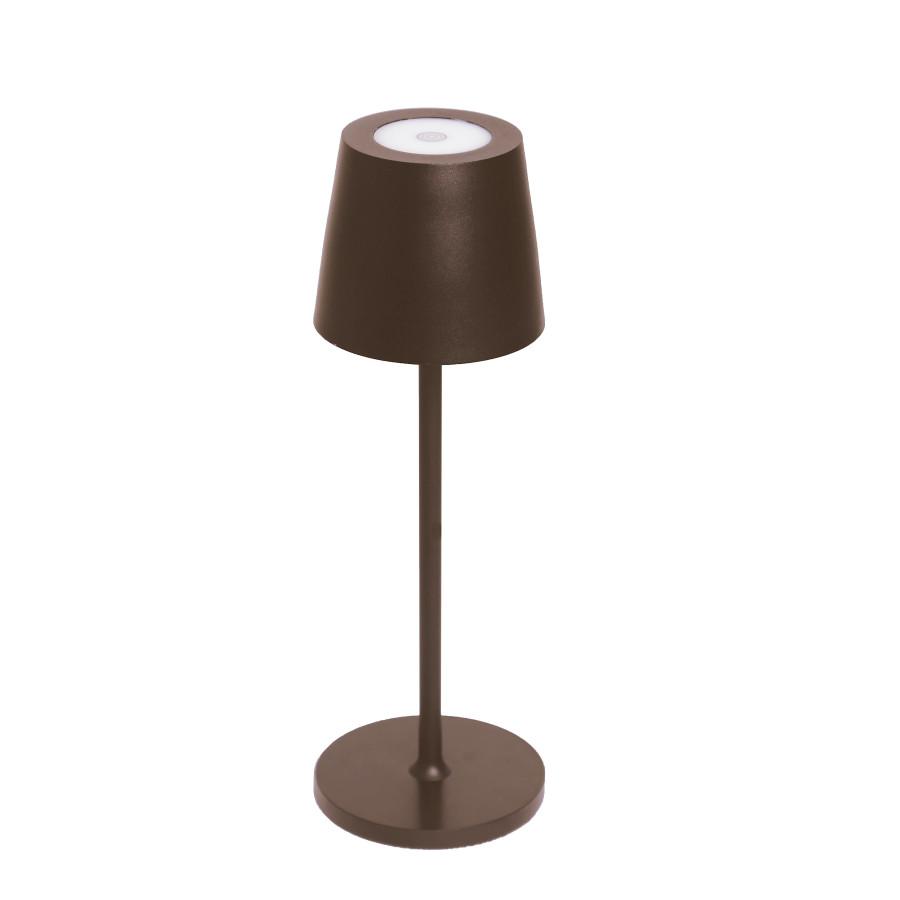 Lampada allum. da tavolo chocolate touch usb in/ou d11 h38 cm