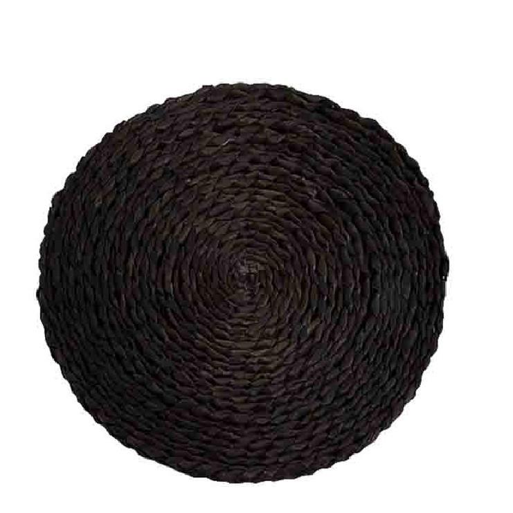 Black straw underplate d36 cm