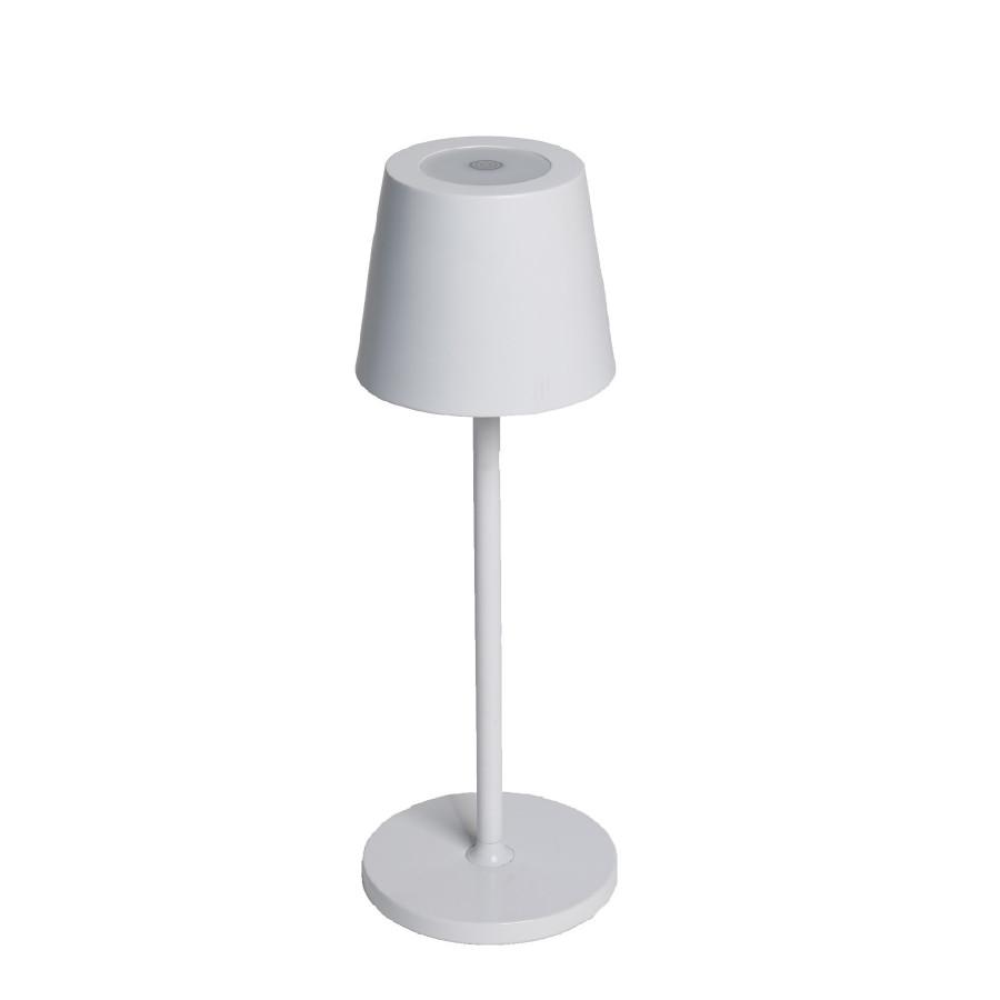 Lampada allum. da tavolo bianca touch usb in/out d10 h30 cm