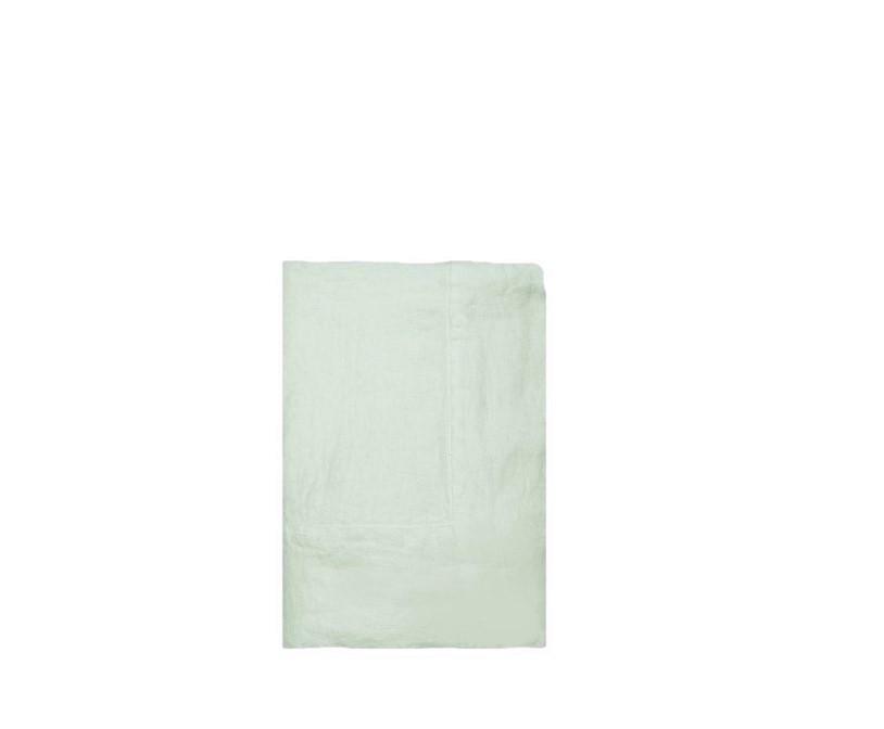 Nappe 100% lin couleur menthe au lait 145x145 cm