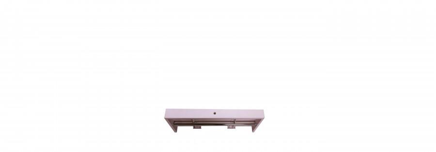 Mensola vintage rosa in legno 80 x 30 h8 cm