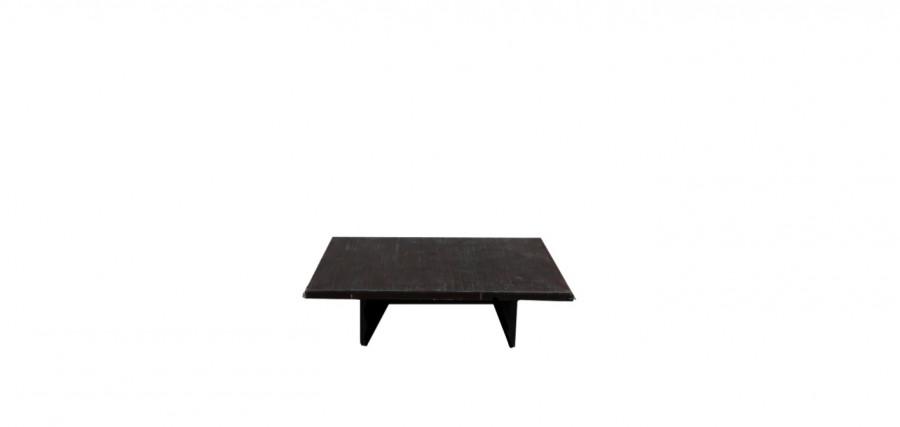 Tavolo basso vintage legno scuro 129 x 90 h34 cm