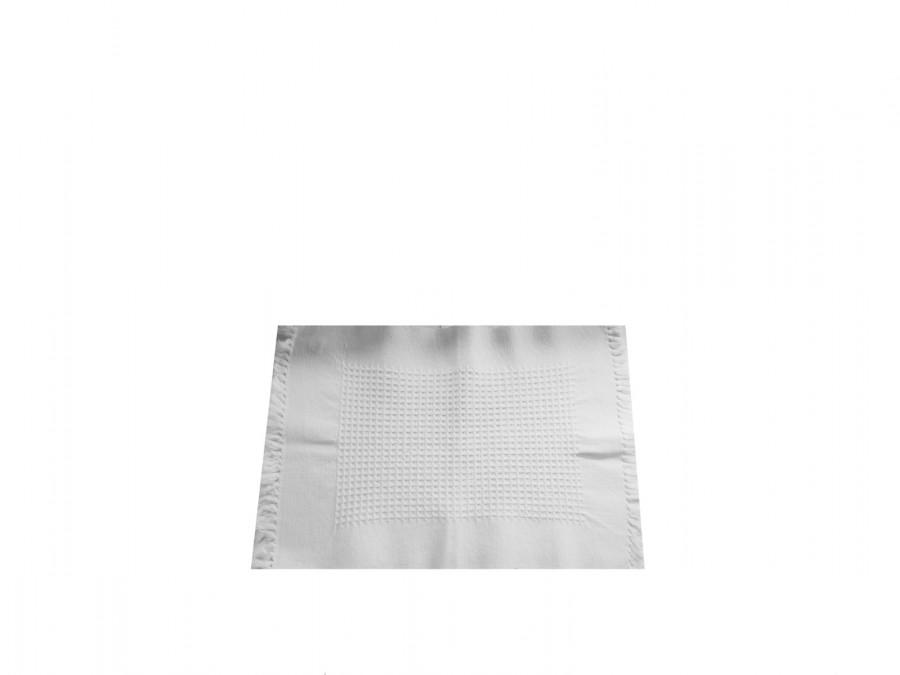 Tovaglietta in cotone con trama centrale e frange 45 x 31 cm