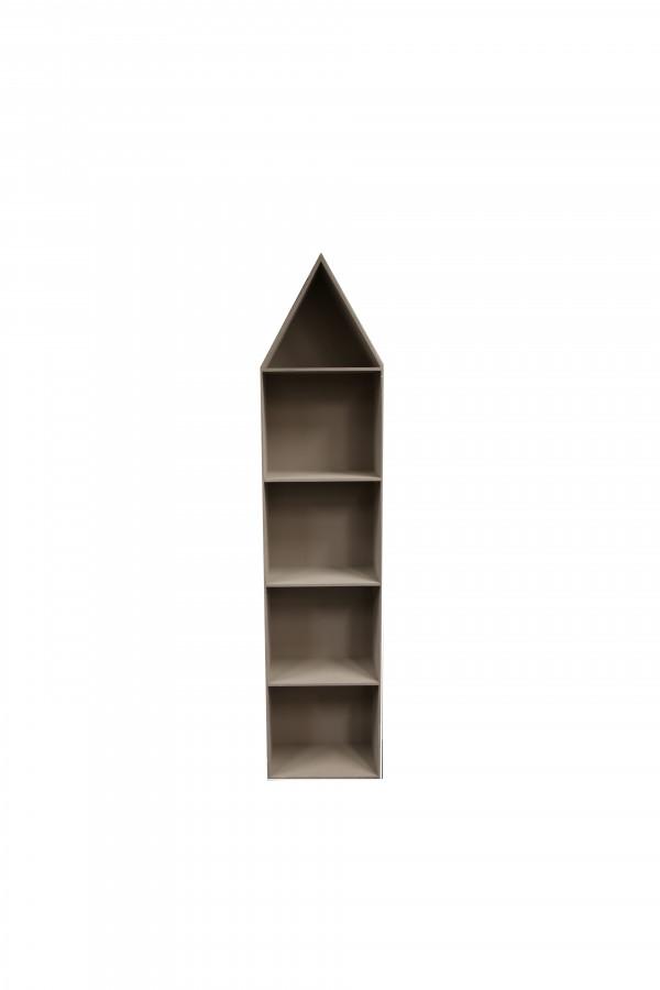 Scaffale in legno 5 scomparti 40 x 25 h199 cm