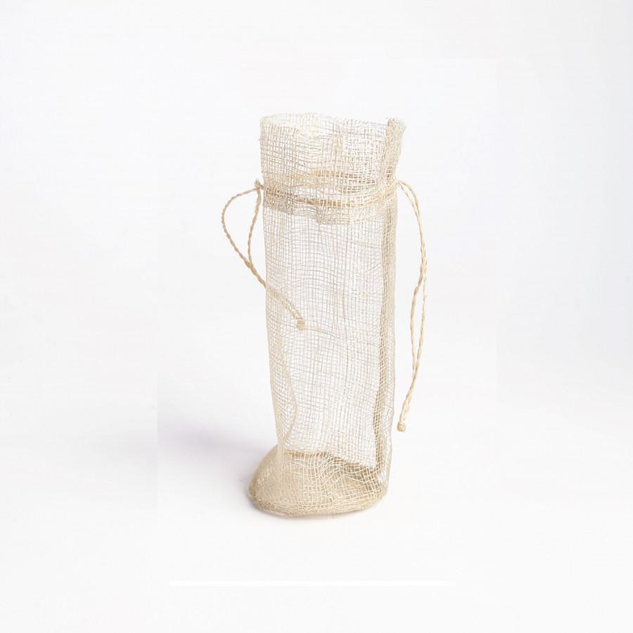Sacchetto rete panna cilindrico d6 h17 cm