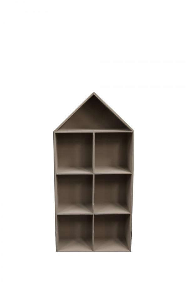 Scaffale in legno 7 scomparti 70 x 25 h155 cm