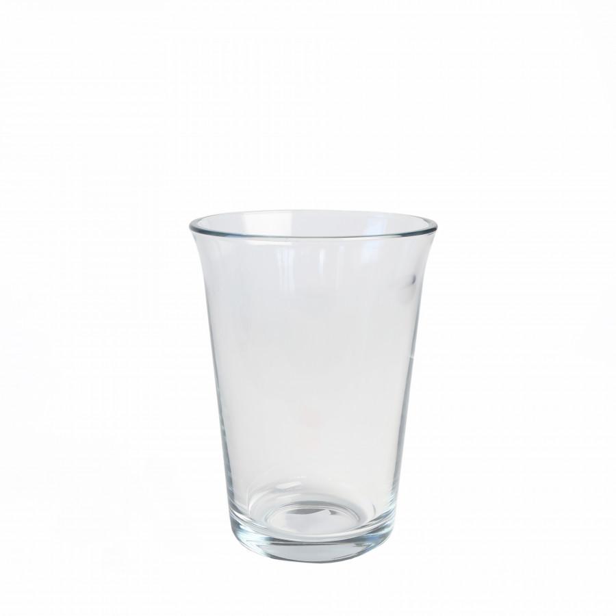 Vaso vetro spesso bordo svasato d14 h19 cm