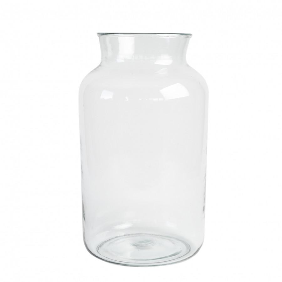 Vaso in vetro 100% riciclato d25 h44 cm