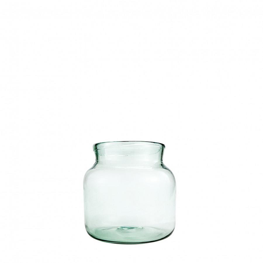 Vaso in vetro 100% riciclato d21 h20 cm