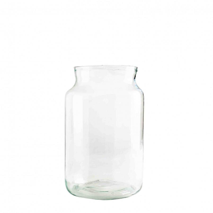 Vaso in vetro 100% riciclato d18 h30 cm
