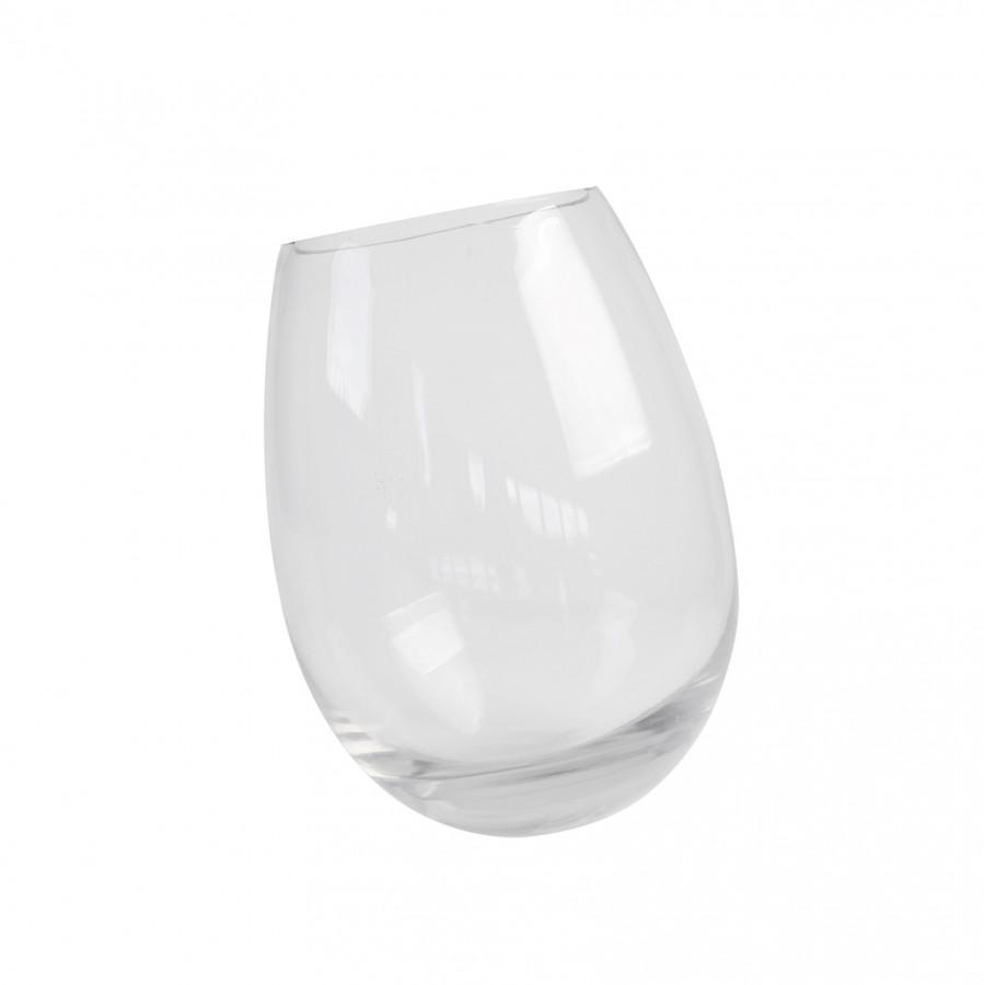 Vaso vetro uovo inclinato h 32 cm
