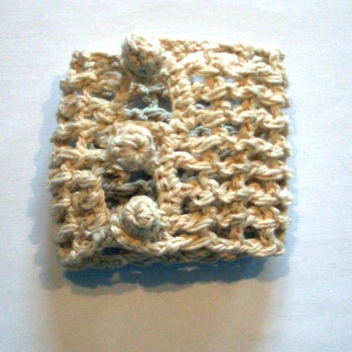 Porta tovagliolo 100% cotone uncinetto 3 nodi h6 cm