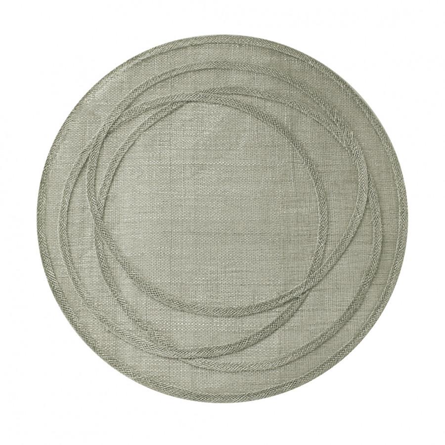 Sousplat en filet d'abaca linen cercles irreguliers d38 cm