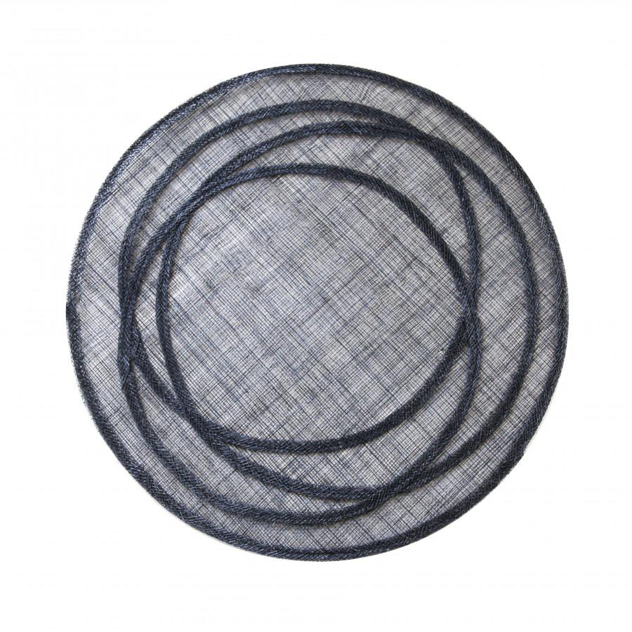 Abaca black underplate with irregular hoops