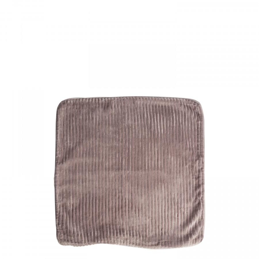 Fodera cuscino taupe velluto a coste 50 x 50 cm