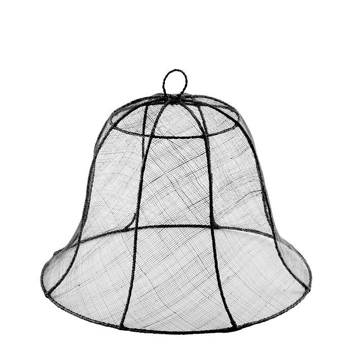 Black bell food cover in abaca net d40 h30 cm