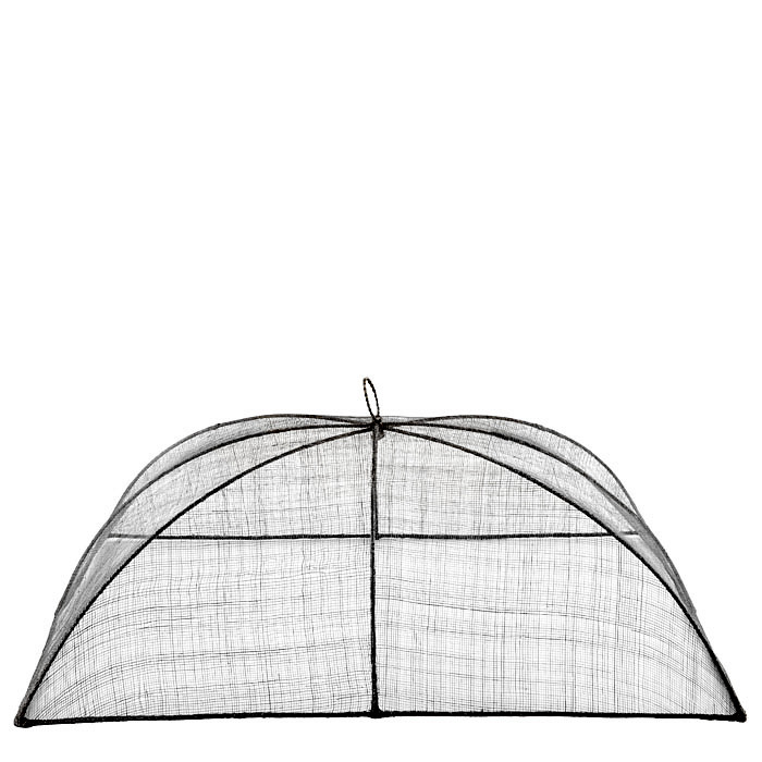 Maxi black food cover in abaca net 48 x 66 h25 cm