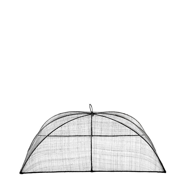 Medium black food cover in abaca net 32 x 50 h22 cm