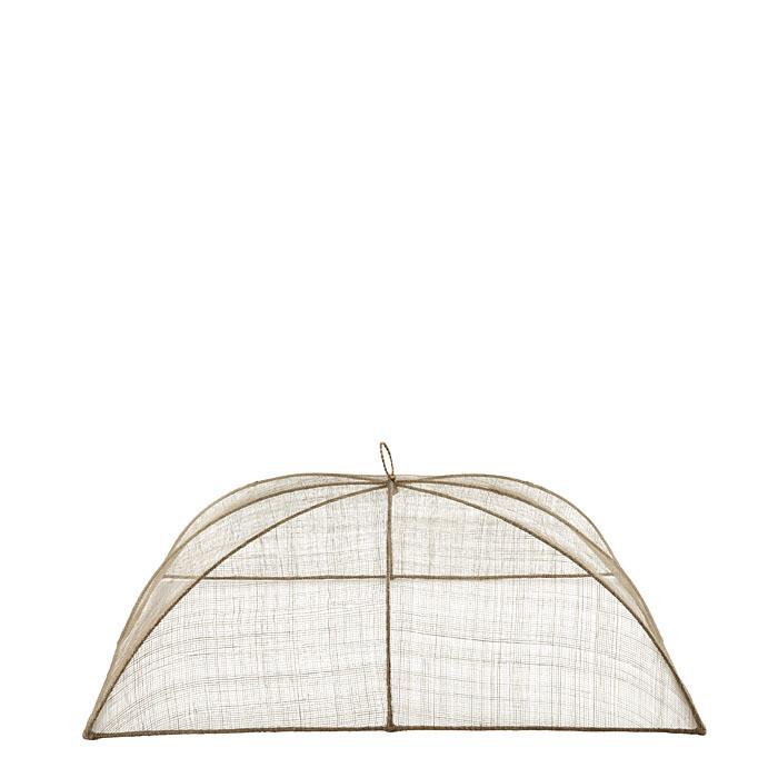 Medium linen food cover in abaca net 32 x 50 h22 cm