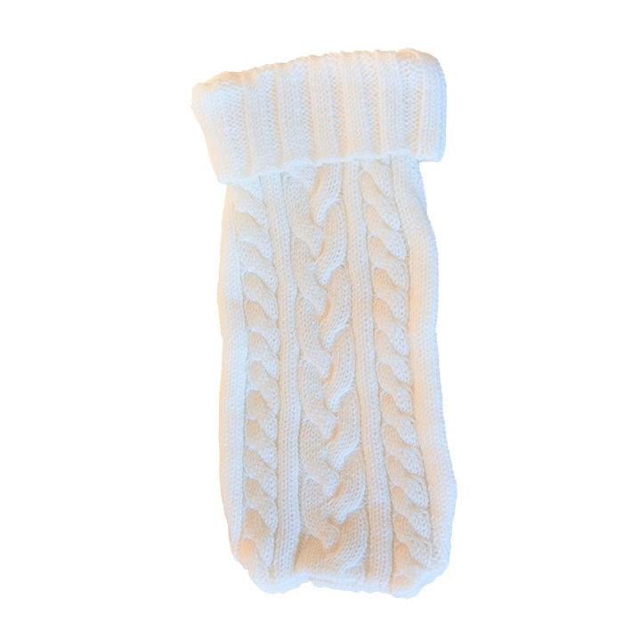 Copriborsa in maglia bianco