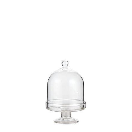 mini plat gateau sur pied en verre cloche. Black Bedroom Furniture Sets. Home Design Ideas