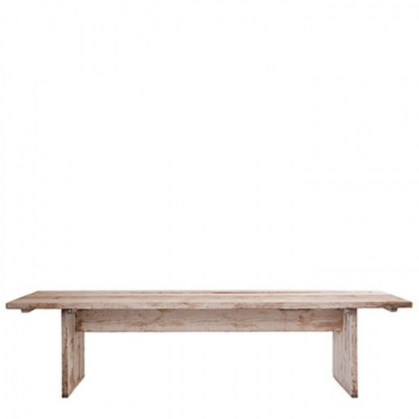 Table en bois brut 95 x 350 h74 cm