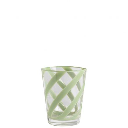 Methacrylate glass with green spiral d9 h11 cm