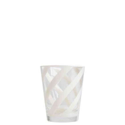 Methacrylate glass with cream spiral d9 h11 cm
